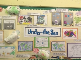 Image of wall of information on Under the Sea Topic