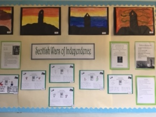 Wall of images and information on the Wars of Independence