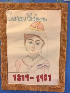 Drawing of Queen Victoria